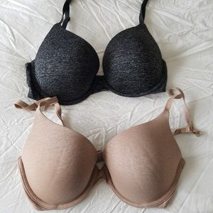 VICTORIAS SECRET Lot of 2 Padded Perfect Coverage